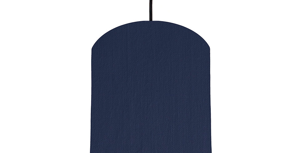 Navy Blue & Light Blue Lampshade - 20cm Wide