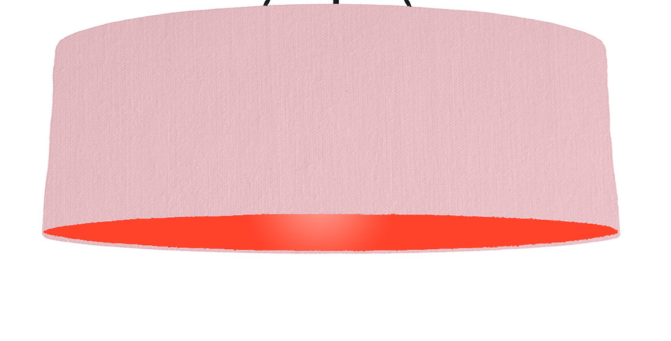 Pink & Poppy Red Lampshade - 100cm Wide