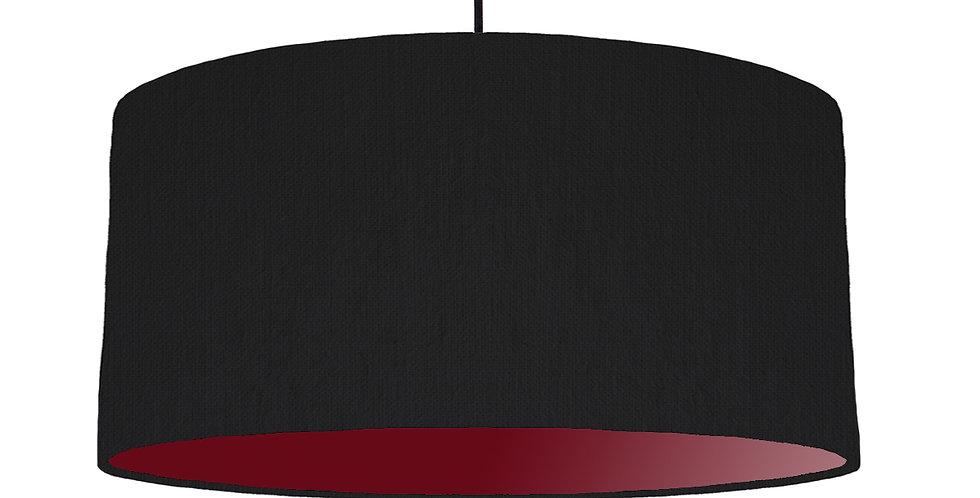 Black & Burgundy Red Lampshade - 60cm Wide