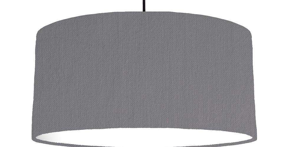 Dark Grey & White Lampshade - 60cm Wide