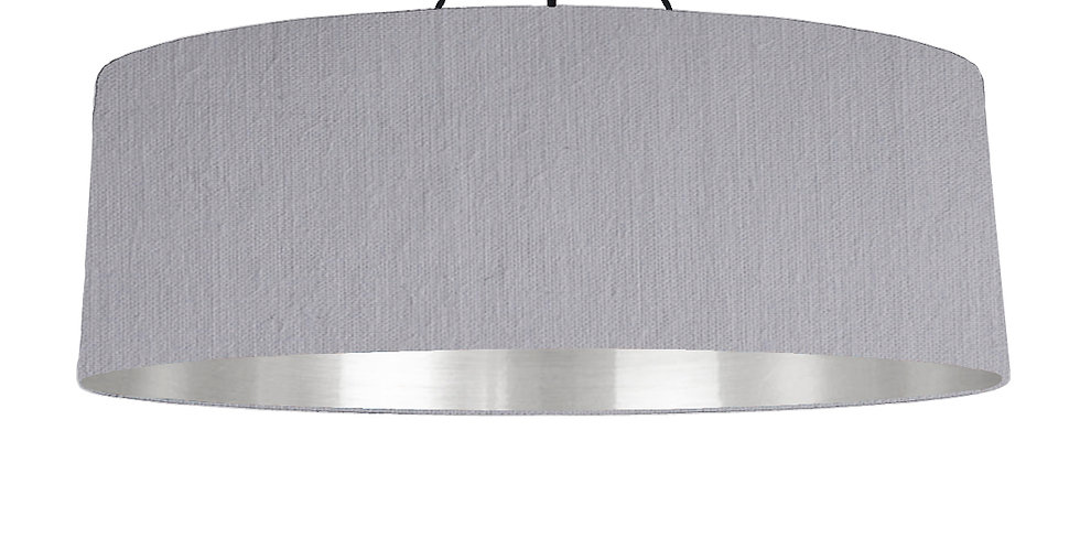 Light Grey & Silver Mirrored Lampshade - 100cm Wide