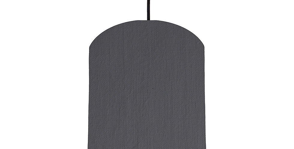 Dark Grey & Ivory Lampshade - 20cm Wide