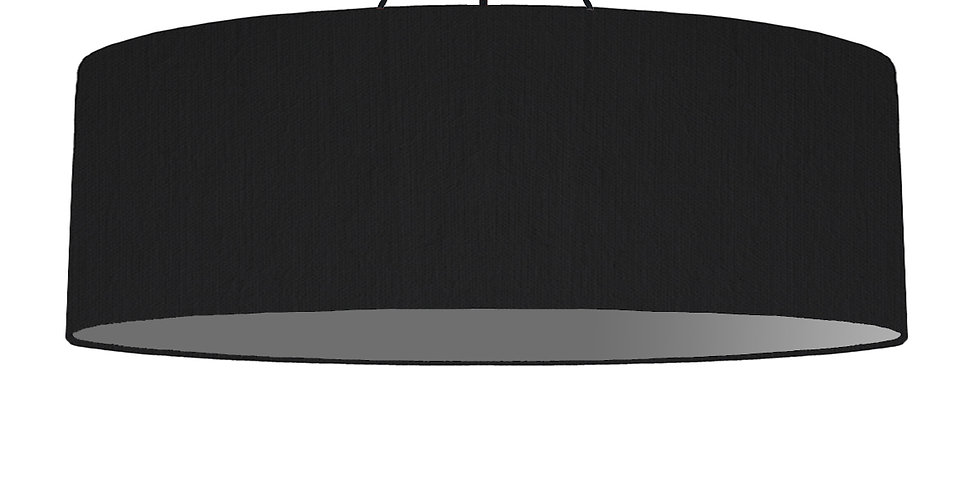 Black & Dark Grey Lampshade - 100cm Wide