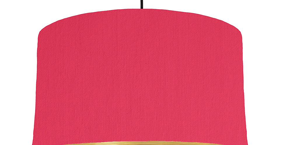Cerise & Brushed Gold Lampshade - 50cm Wide