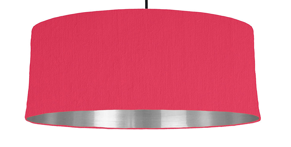 Cerise & Silver Mirrored Lampshade - 70cm Wide