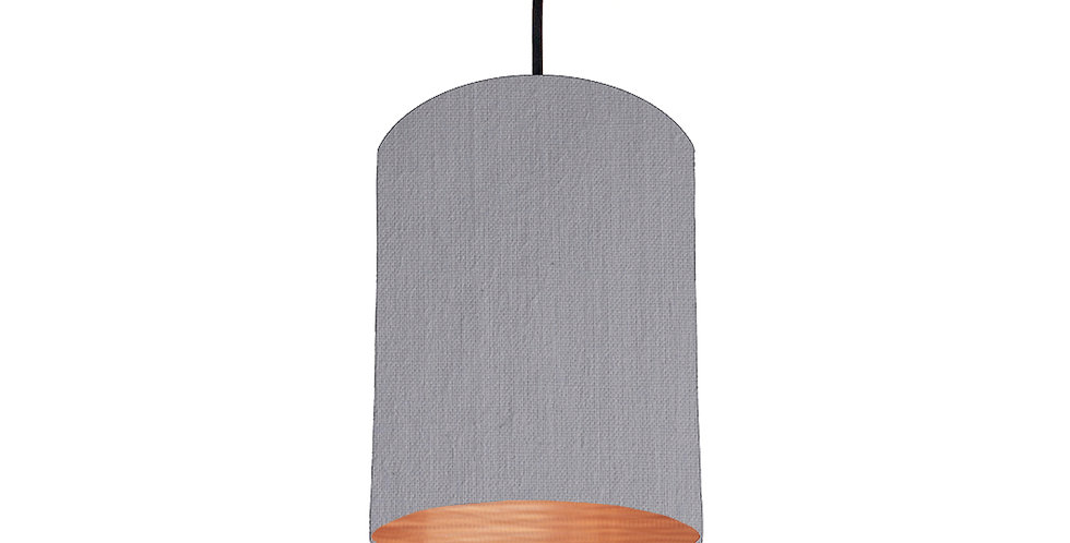 Light Grey & Brushed Copper Lampshade - 15cm Wide