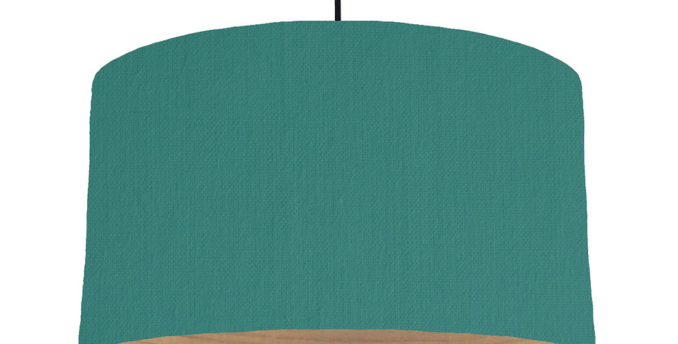 Jade & Wooden Lined Lampshade - 50cm Wide