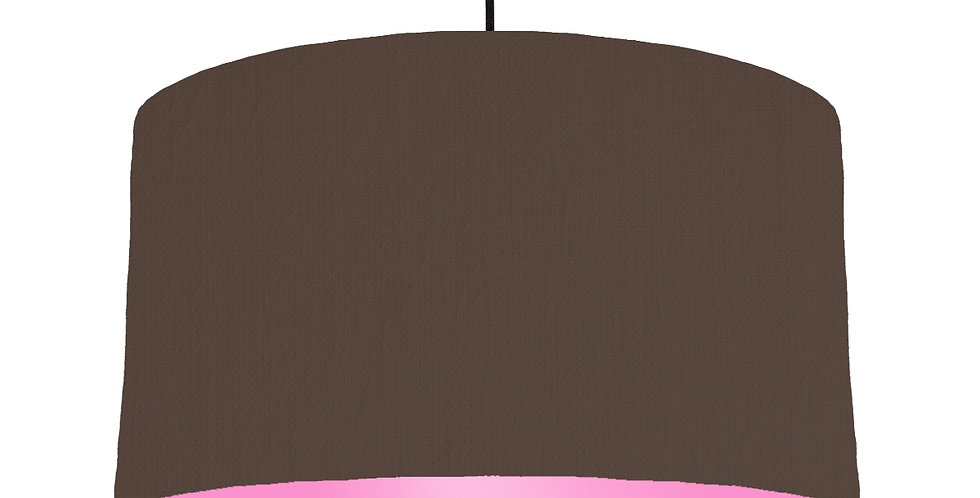 Brown & Pink Lampshade - 50cm Wide