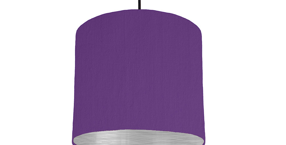 Violet & Brushed Silver Lampshade - 25cm Wide