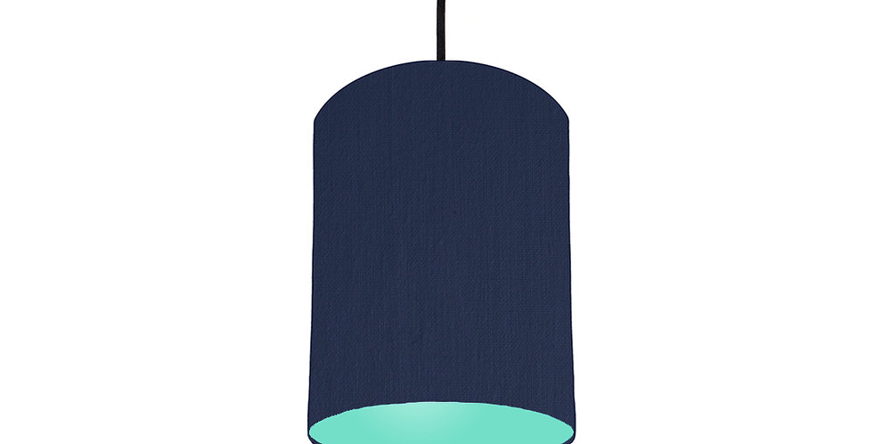 Navy Blue & Mint Lampshade - 15cm Wide