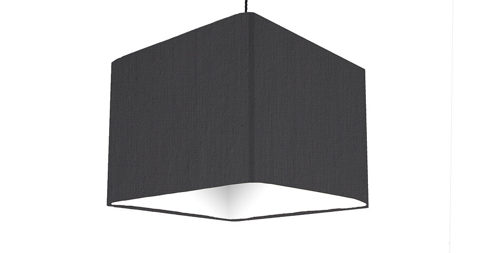 20cm Square Black Lampshade With White Lining
