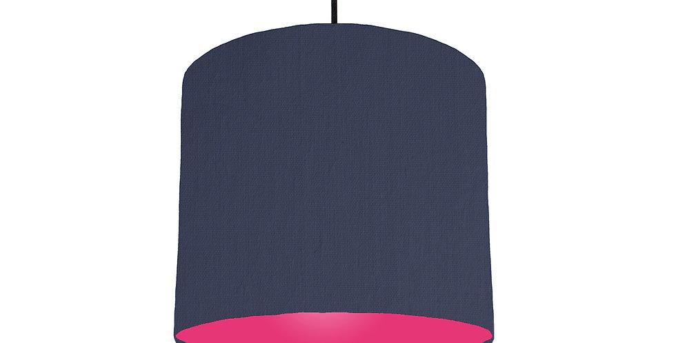 Navy Blue & Magenta Lampshade - 25cm Wide