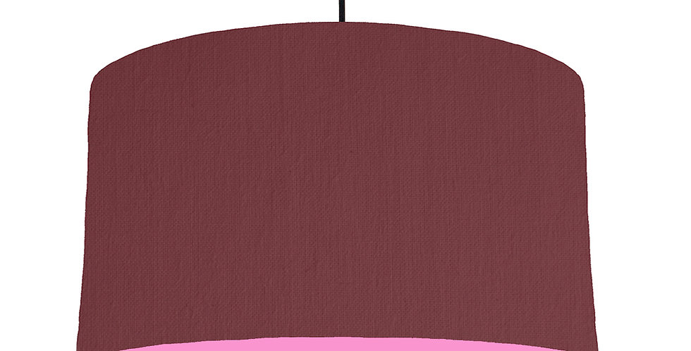 Wine Red & Pink Lampshade - 50cm Wide