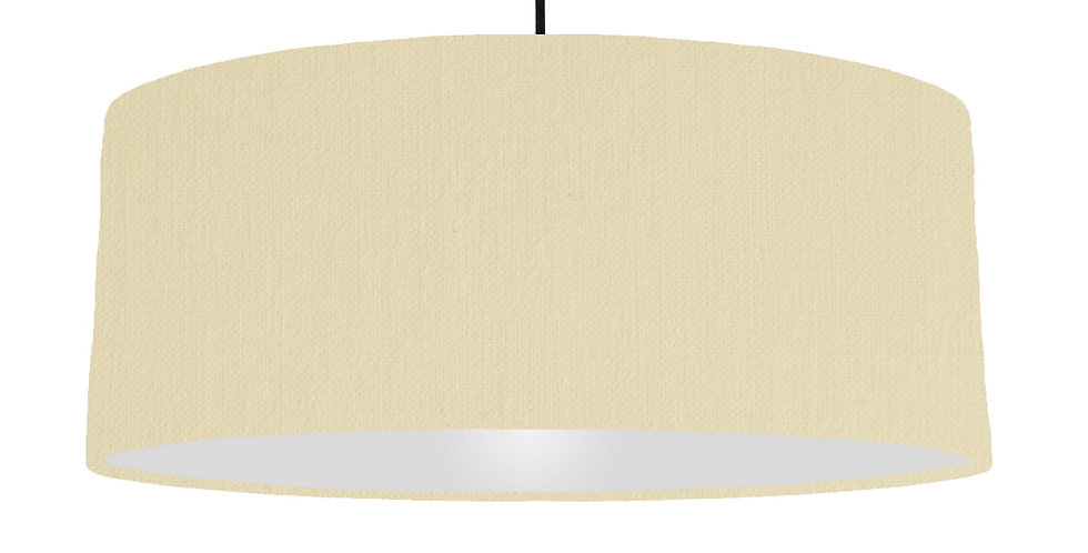 Natural & Light Grey Lampshade - 70cm Wide