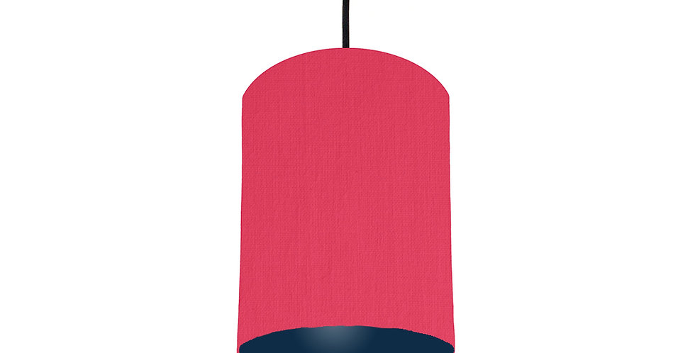 Cerise & Navy Blue Lampshade - 15cm Wide