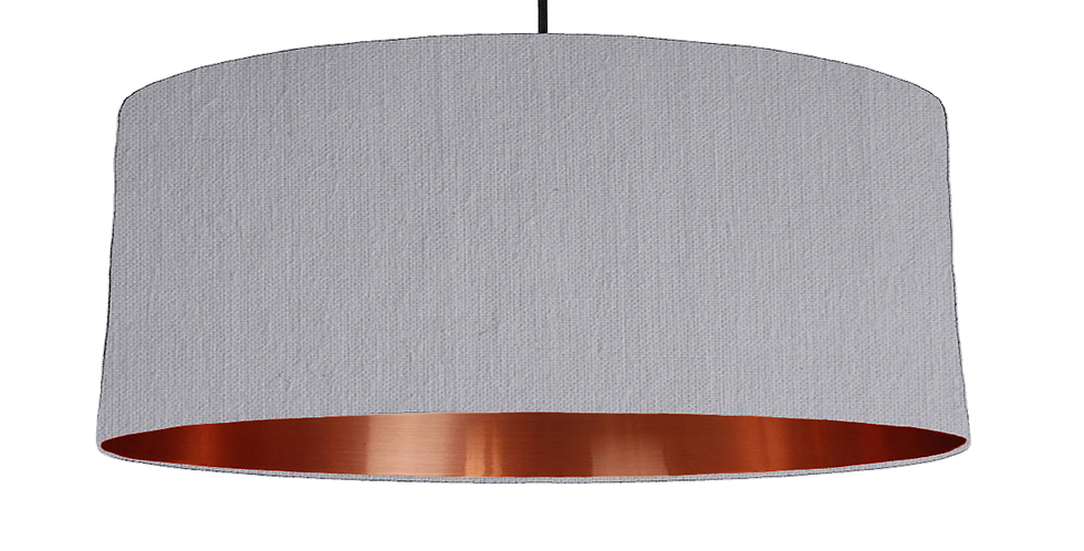 Light Grey & Copper Mirrored Lampshade - 70cm Wide