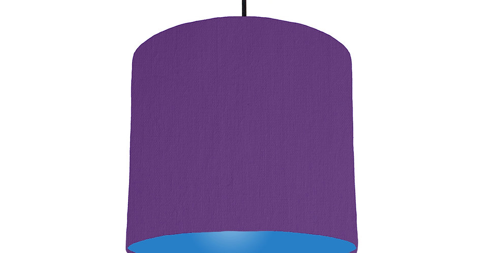 Violet & Bright Blue Lampshade - 25cm Wide