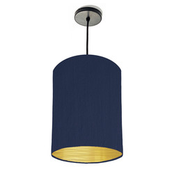 Navy blue lampshade