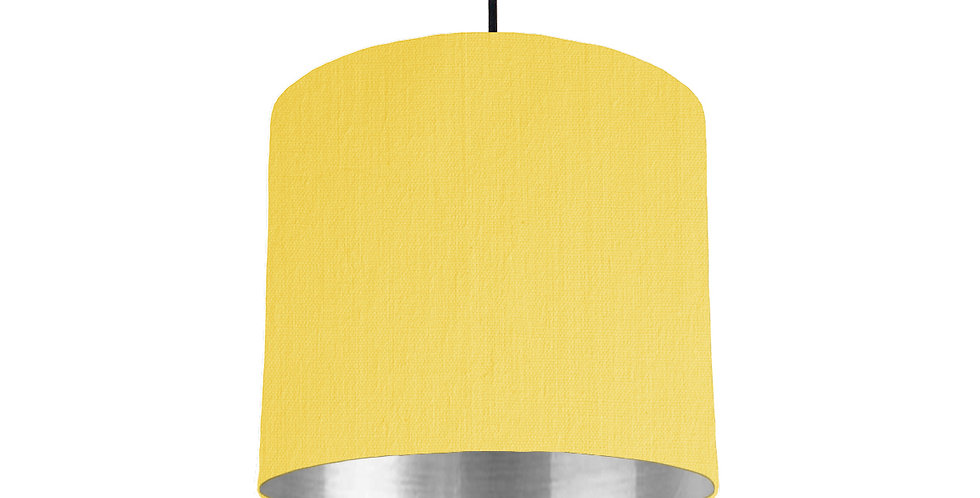 Lemon & Silver Mirrored Lampshade - 25cm Wide