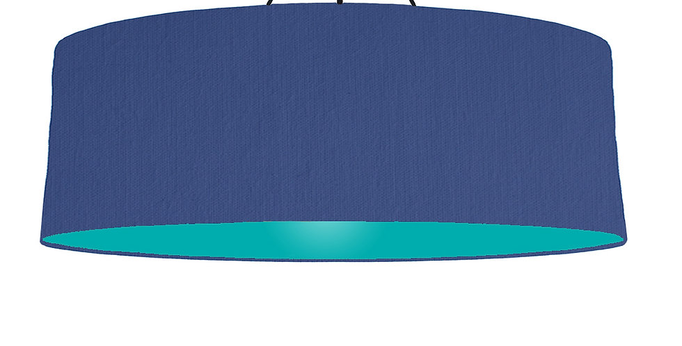 Royal Blue & Turquoise Lampshade - 100cm Wide