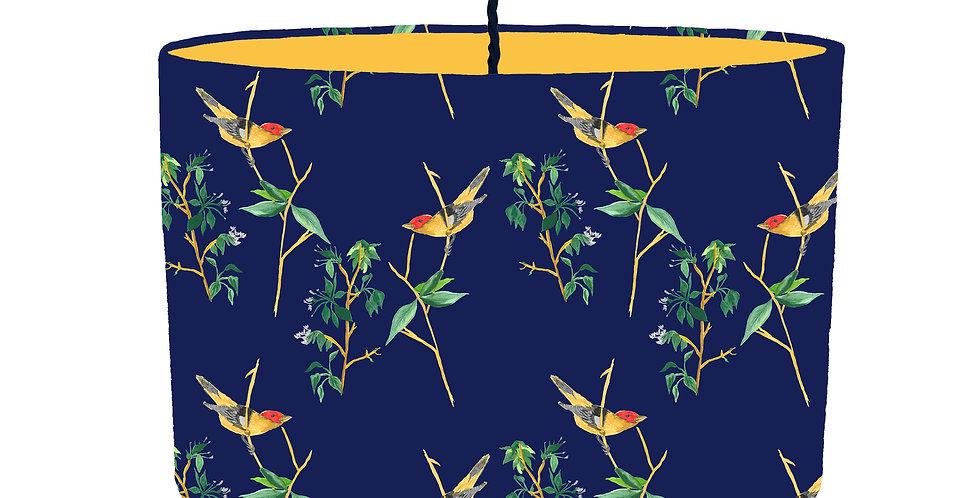 Midnight Botanical Lampshade - Colour Lining