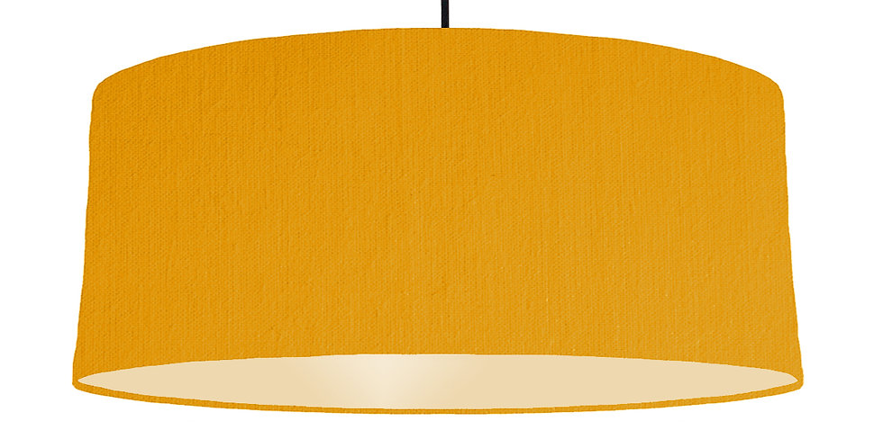 Mustard & Ivory Lampshade - 70cm Wide