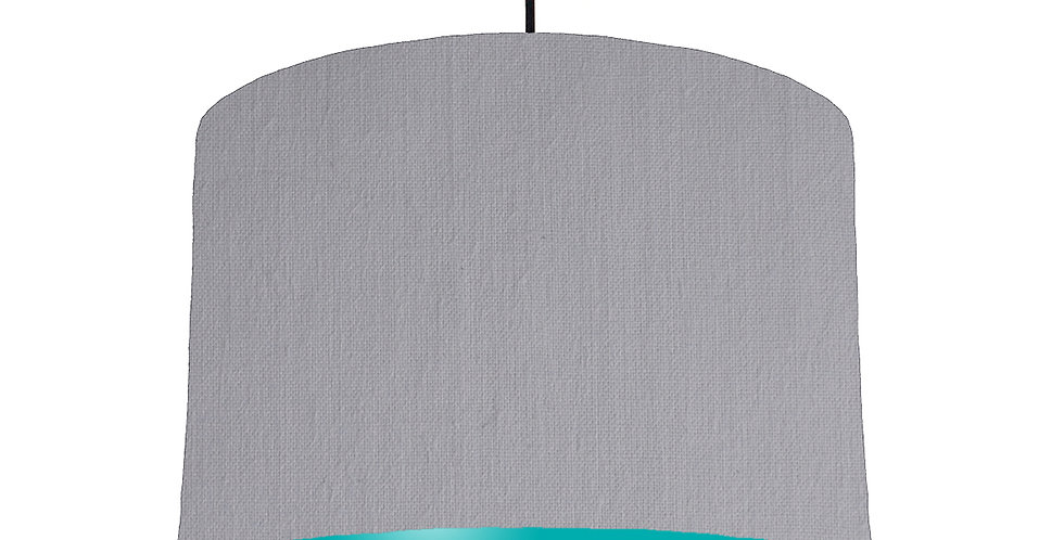 Light Grey & Turquoise Lampshade - 30cm Wide