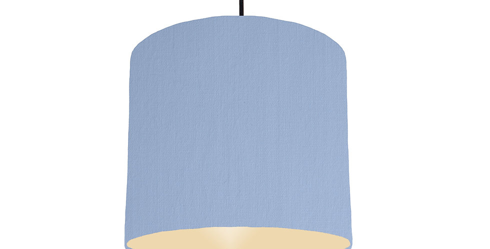 Sky Blue & Ivory Lampshade - 25cm Wide