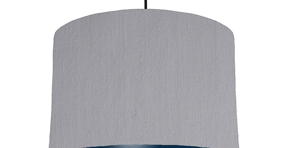 Light Grey & Navy Lampshade - 30cm Wide