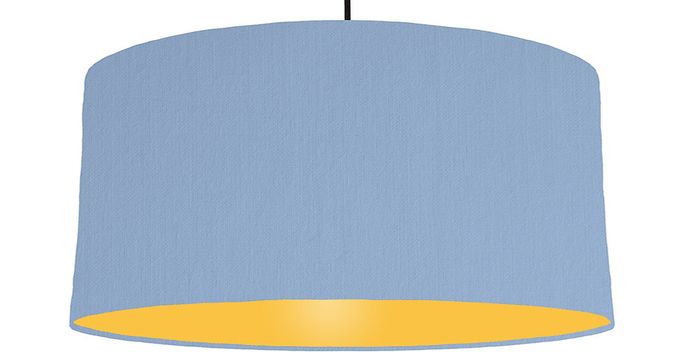 Sky Blue & Butter Yellow Lampshade - 60cm Wide