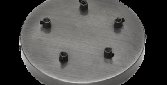 Industville Sleek Ceiling Rose - 5 Outlet - Pewter