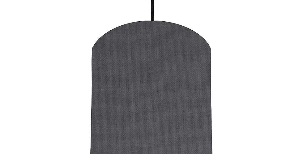 Dark Grey & Light Blue Lampshade - 20cm Wide