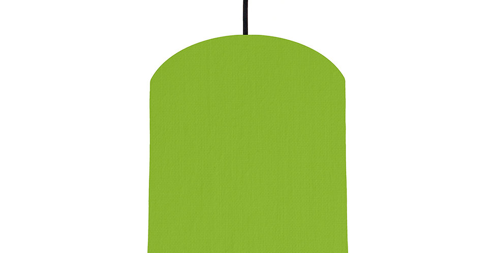 Pistachio & Wood Lined Lampshade - 20cm Wide
