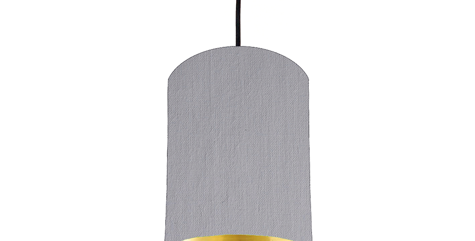 Light Grey & Gold Mirrored Lampshade - 15cm Wide