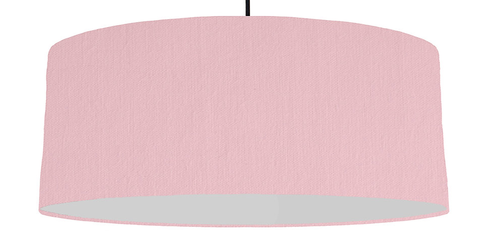 Pink & Light Grey Lampshade - 70cm Wide