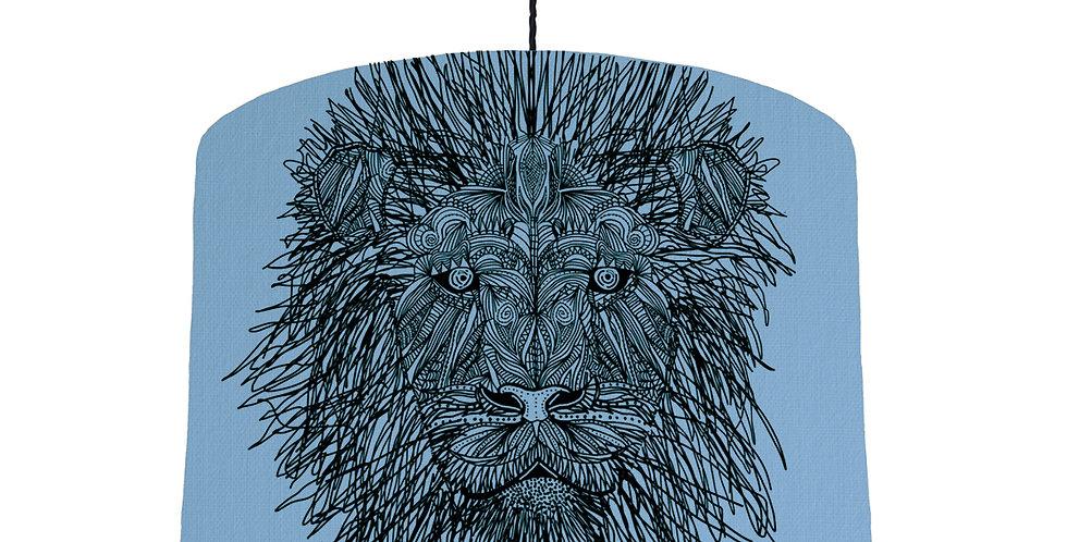 Lion Shade - Sky Blue Fabric