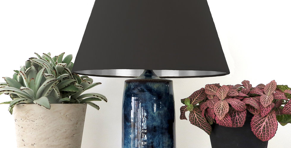 Conical Lampshade (20Tx30Bx20H) - Silver Mirror Lining