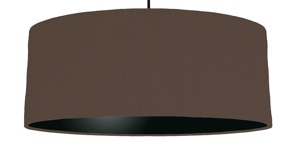 Brown & Black Lampshade - 70cm Wide