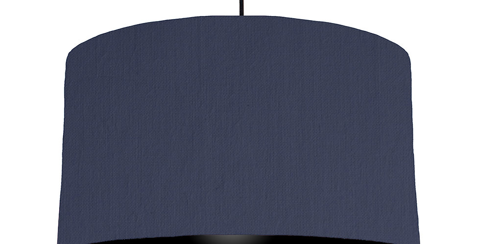 Navy Blue & Black Lampshade - 50cm Wide