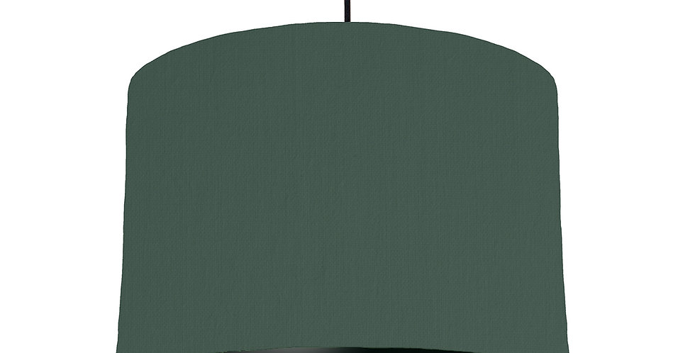Bottle Green & Black Lampshade - 30cm Wide