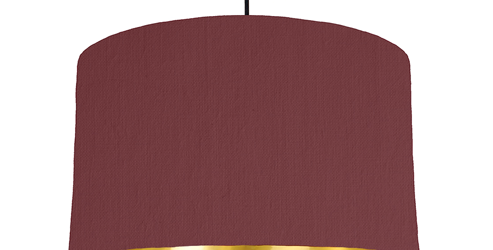 Wine Red & Gold Mirrored Lampshade - 40cm Wide