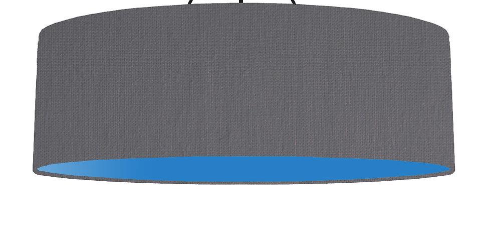 Dark Grey & Bright Blue Lampshade - 100cm Wide