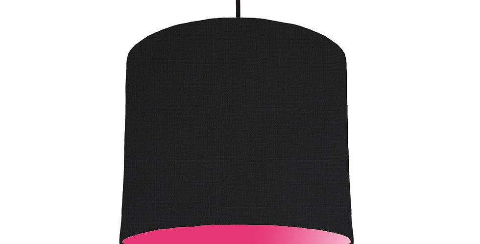 Black & Magenta Lampshade - 25cm Wide