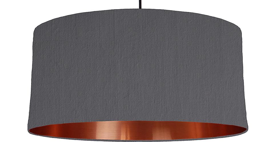 Dark Grey & Copper Mirrored Lampshade - 60cm Wide