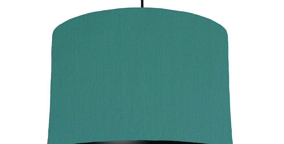 Jade & Black Lampshade - 30cm Wide