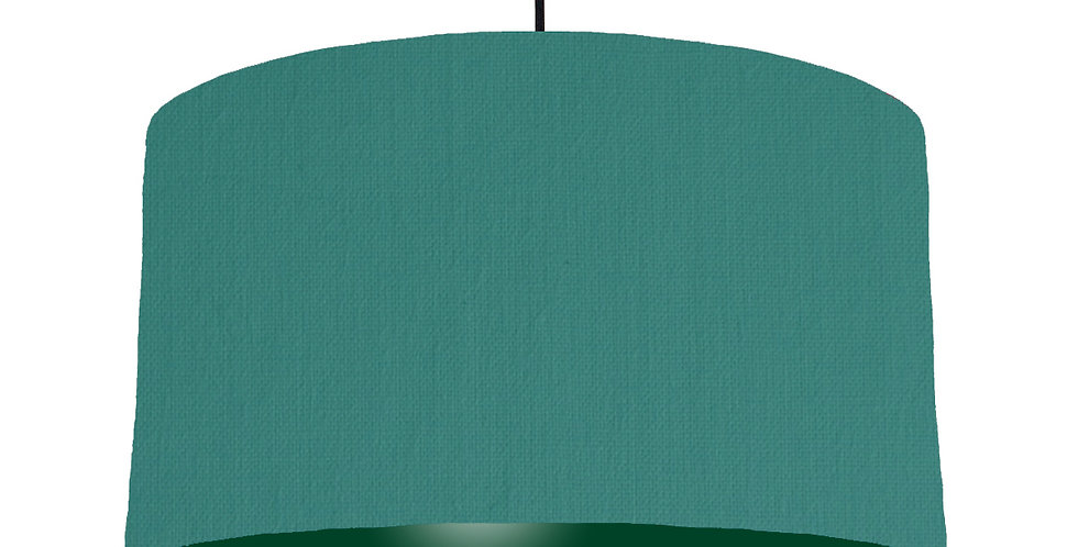 Jade & Forest Green Lampshade - 50cm Wide