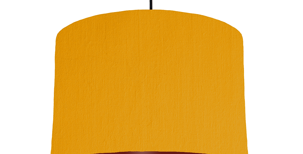 Mustard & Burgundy Lampshade - 30cm Wide