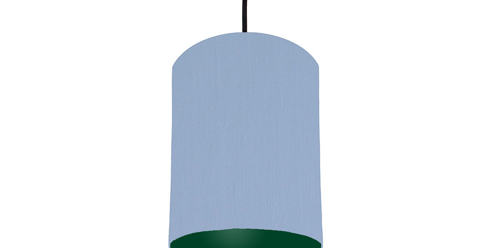 Sky Blue & Forest Green Lampshade - 15cm Wide