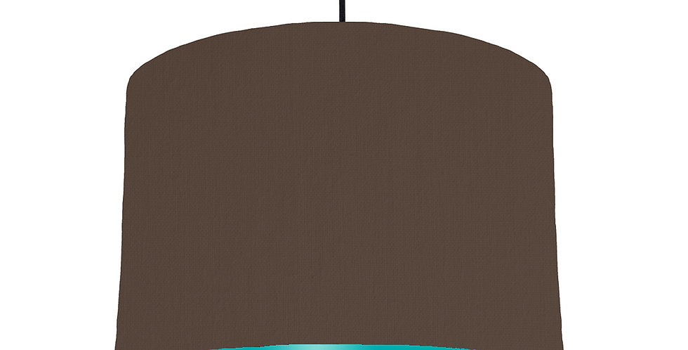Brown & Turquoise Lampshade - 30cm Wide
