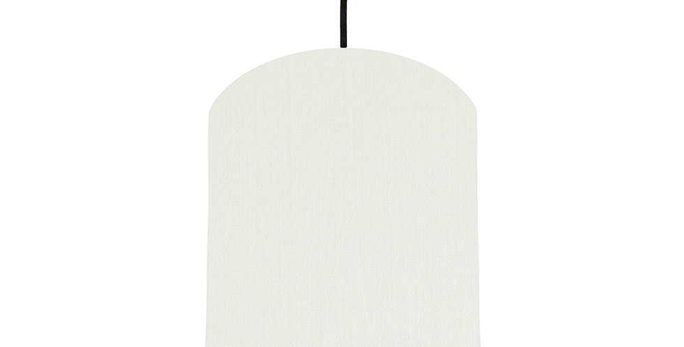 White & Purple Lampshade - 20cm Wide